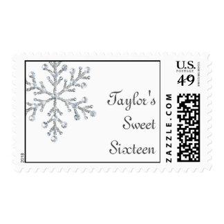 Winter Crystal Sweet Sixteen Stamp