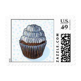Winter cupcake postage stamps