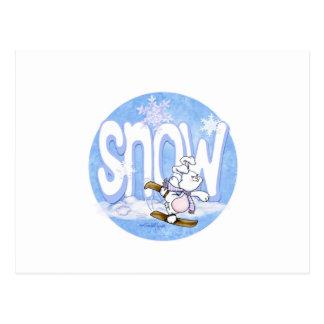 Winter - Cute Snow Bunny Postcard