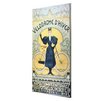 'Winter Cycle Racing Track', International Exhibit Canvas Print