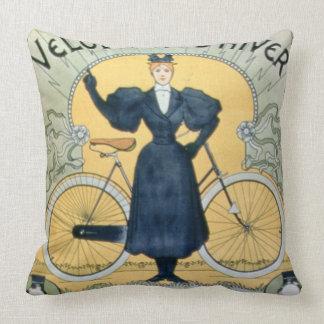 'Winter Cycle Racing Track', International Exhibit Throw Pillow