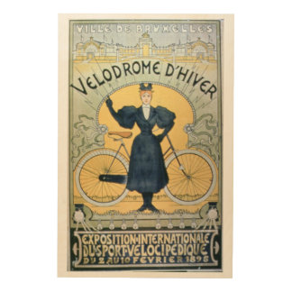'Winter Cycle Racing Track', International Exhibit Wood Wall Art