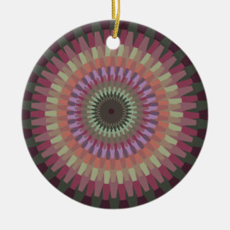 Winter Dahlia in Warm Muted Colors - Personalized Ceramic Ornament