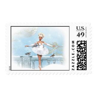 Winter Dance Postage Stamp