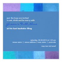 Winter danube Bachelor Party Invitation