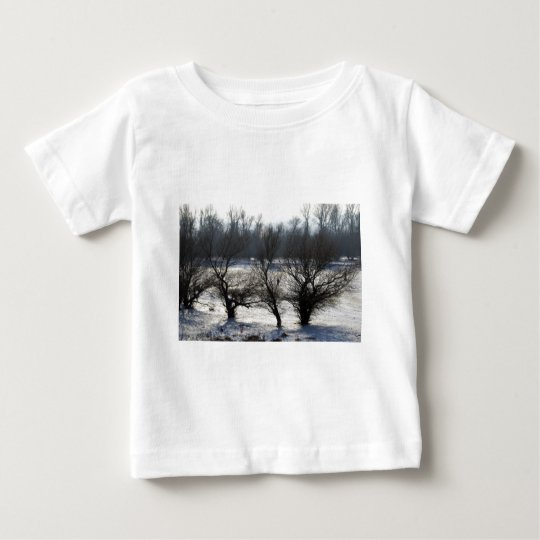 winter - danube river in frosty day baby T-Shirt