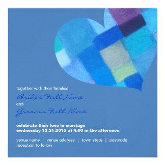 Winter danube Square Wedding Invitation