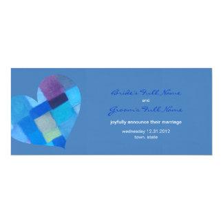 """Winter danube Wedding Announcement 4"""" X 9.25"""" Invitation Card"""