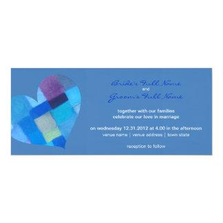 """Winter danube Wedding Invitation 4"""" X 9.25"""" Invitation Card"""