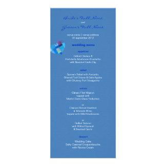 Winter danube Wedding Menu Personalized Invitation