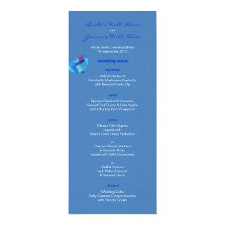 Winter danube Wedding Menu 4x9.25 Paper Invitation Card