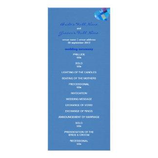 Winter danube Wedding Program Custom Invites