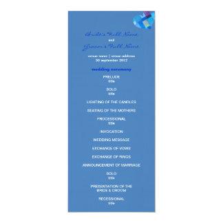 "Winter danube Wedding Program 4"" X 9.25"" Invitation Card"