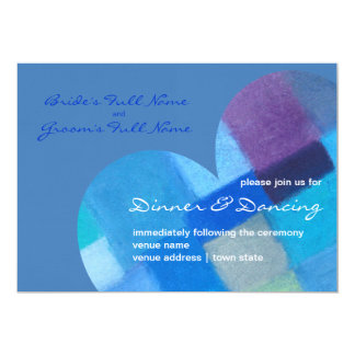 Winter danube Wedding Reception Invite