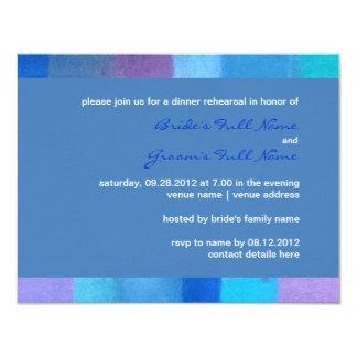 "Winter danube Wedding Rehearsal Dinner Invitation 4.25"" X 5.5"" Invitation Card"