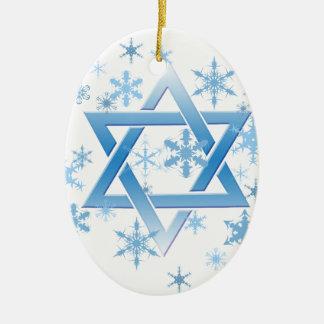 winter david ceramic ornament