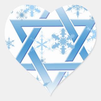 winter david heart sticker