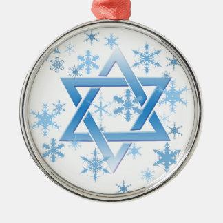 winter david metal ornament