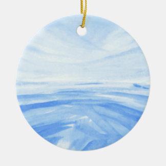 Winter Dawn Ceramic Ornament