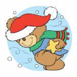 winter day christmas teddy bear design photo cutout