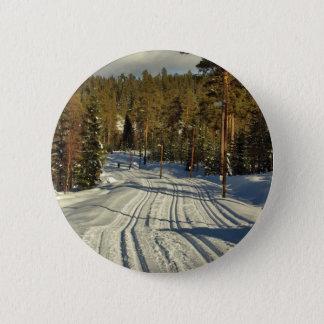 Winter day in Sweden Pinback Button