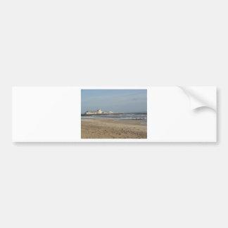 Winter day on Bournemouth beach Bumper Sticker