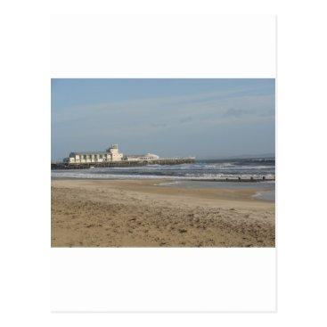 Beach Themed Winter day on Bournemouth beach Postcard