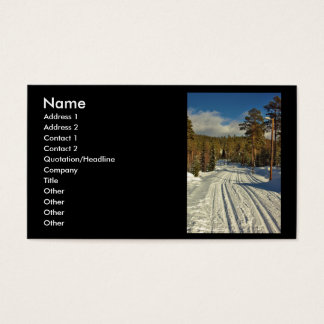Winter Day on Sweden Business Card
