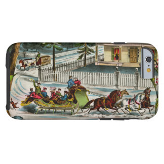 Winter Days Christmas scene iPhone 6 Case