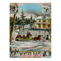 Winter Days Postcard