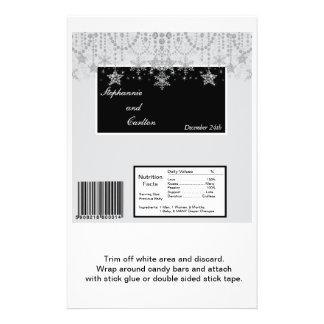 Winter Diamond Wedding Hershey's Large Bar Wrapper