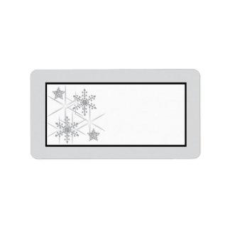 Winter Diamond Wedding Mailing Address Label