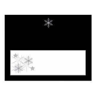 Winter Diamond Wedding Writable Place Card
