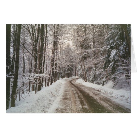 Winter dirt road card