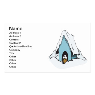 Winter Dog Double-Sided Standard Business Cards (Pack Of 100)