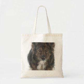 winter dog tote budget tote bag