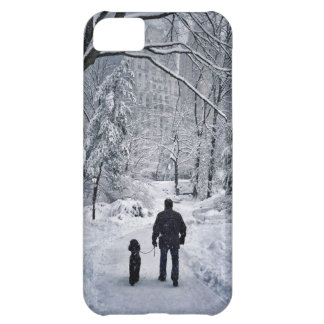 Winter Dog Walk Cover For iPhone 5C