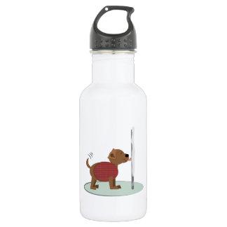 Winter Doggy Pole 18oz Water Bottle