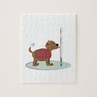 Winter Doggy Pole Jigsaw Puzzles