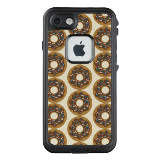Winter Donuts with Blue Sprinkles Iced Chocolate LifeProof FRĒ iPhone 7 Case
