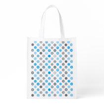 Winter Dots Blue and Gray Holiday Bag
