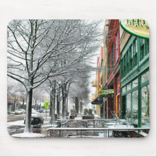 Winter Downtown Mouse Pad