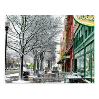 Winter Downtown Postcard