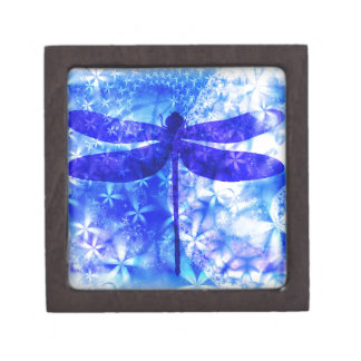 Winter Dragonfly Jewelry Box