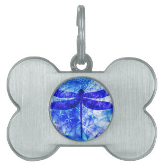 Winter Dragonfly Pet Tag