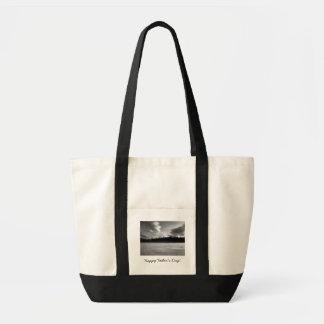 Winter Drama; Happy Father's Day Tote Bag