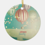 Winter Dream Double-Sided Ceramic Round Christmas Ornament