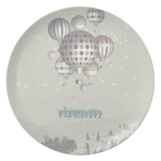 Winter Dreamflight Christmas Time Party Plates