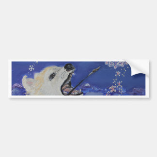 Winter Dreams-An Artist Great Pyrenees Mountain Do Bumper Sticker