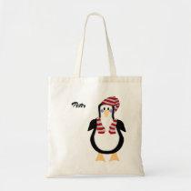 Winter Dressed Penguin Tote Bag